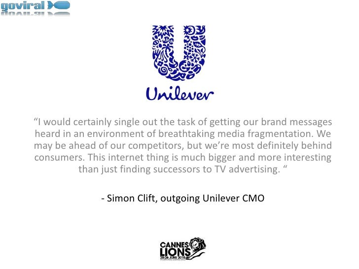 """""""I would certainly single out the task of getting our brand messages heard in an environment of breathtaking media fragmen..."""