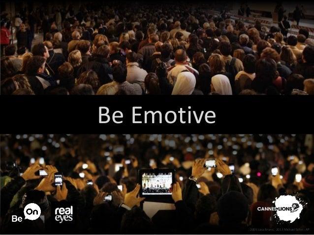 Be Emotive 2005 Luca Bruno, 2013 Michael Sohn - AP