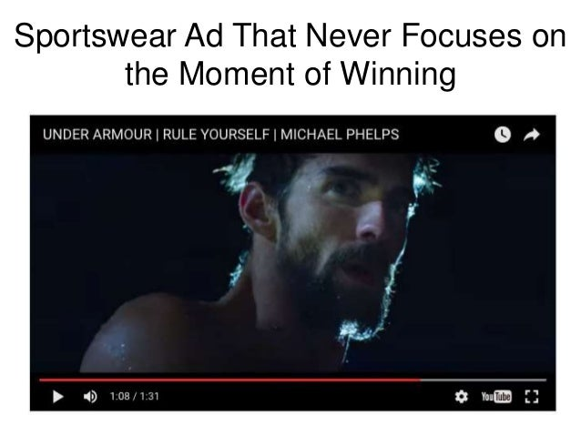 Sportswear Ad That Never Focuses on the Moment of Winning