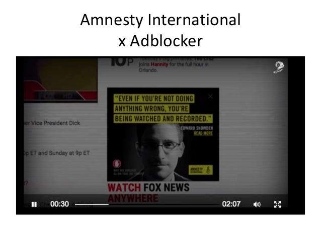 Amnesty International x Adblocker