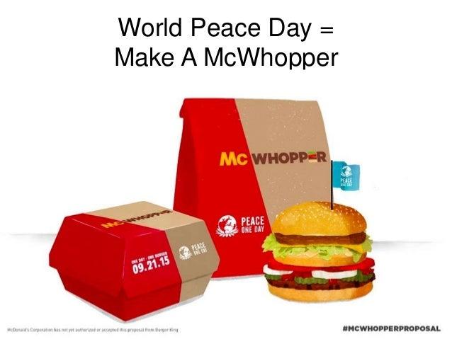 World Peace Day = Make A McWhopper