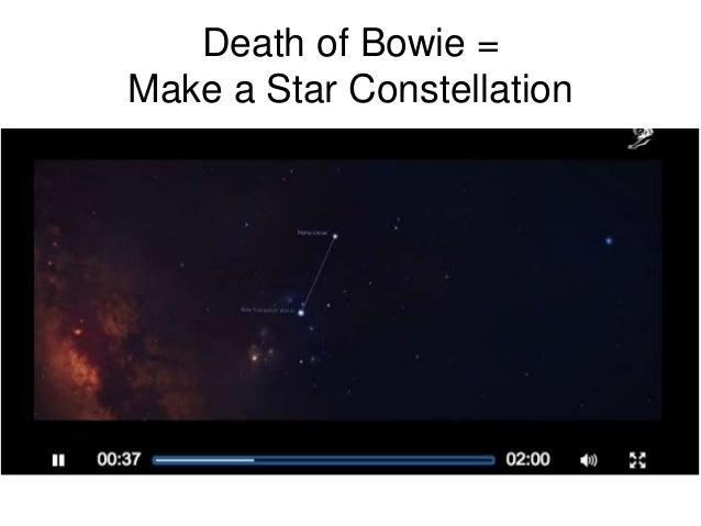 Death of Bowie = Make a Star Constellation