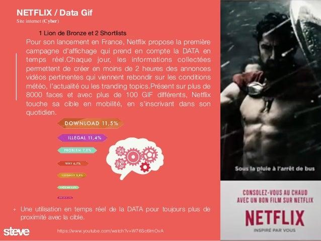 Pour son lancement en France, Netflix propose la première campagne d'affichage qui prend en compte la DATA en temps réel.Cha...