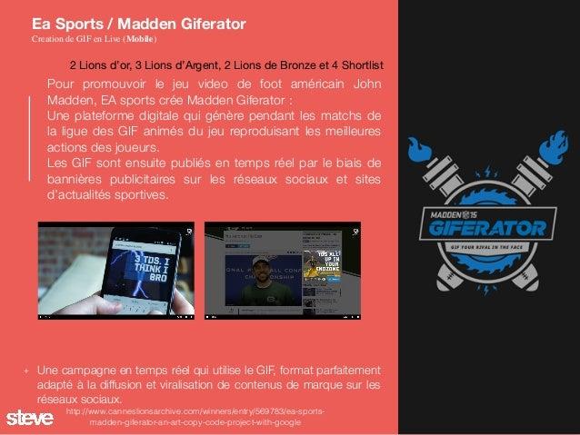 Pour promouvoir le jeu video de foot américain John Madden, EA sports crée Madden Giferator : Une plateforme digitale qui ...