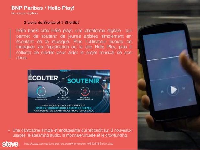 Hello bank! crée Hello play!, une plateforme digitale qui permet de soutenir de jeunes artistes simplement en écoutant de ...