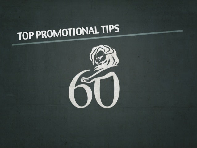 Cannes Lions Promotional Tips