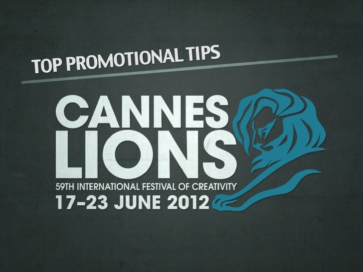 Cannes lions slide share