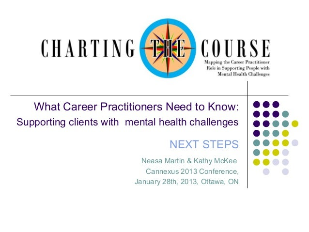 What Career Practitioners Need to Know: Supporting clients with mental health challenges  NEXT STEPS Neasa Martin & Kathy ...