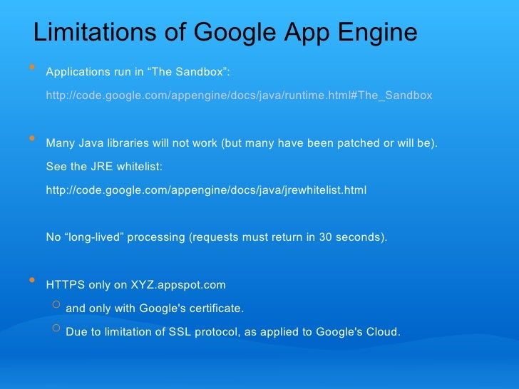 Cannibalising The Google App Engine