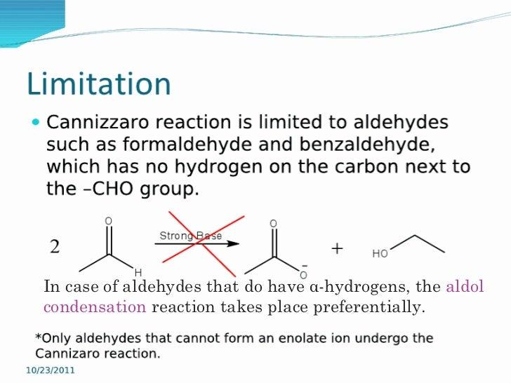 cannizzaro reaction ppt