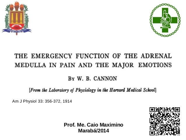Am J Physiol 33: 356-372, 1914 Prof. Me. Caio Maximino Marabá/2014