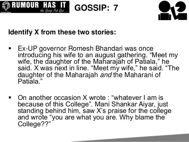 Cannot Place Gossip Quiz 2013