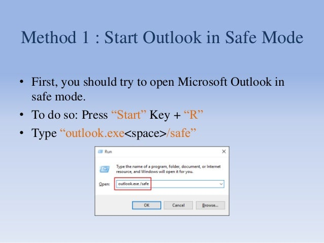 How to Fix Cannot Start Microsoft Outlook Error Message