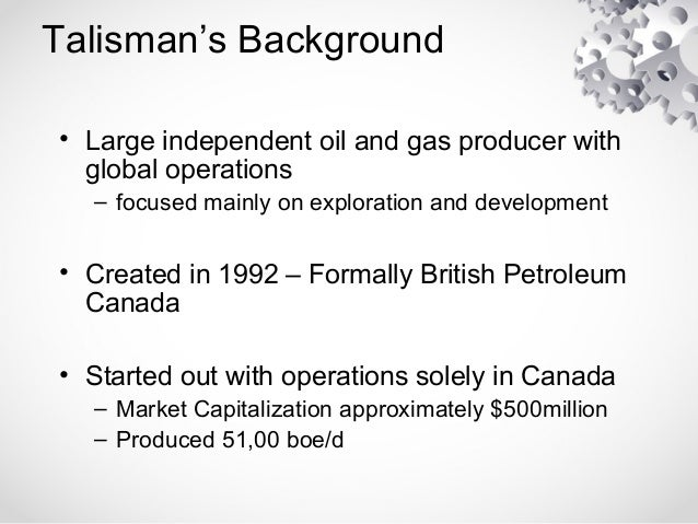 Canadian Oil And Gas Industry