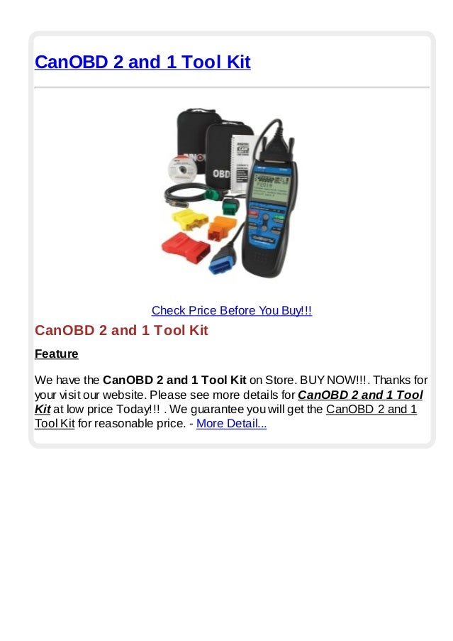 CanOBD 2 and 1 Tool KitCheck Price Before You Buy!!!CanOBD 2 and 1 Tool KitFeatureWe have the CanOBD 2 and 1 Tool Kit on S...