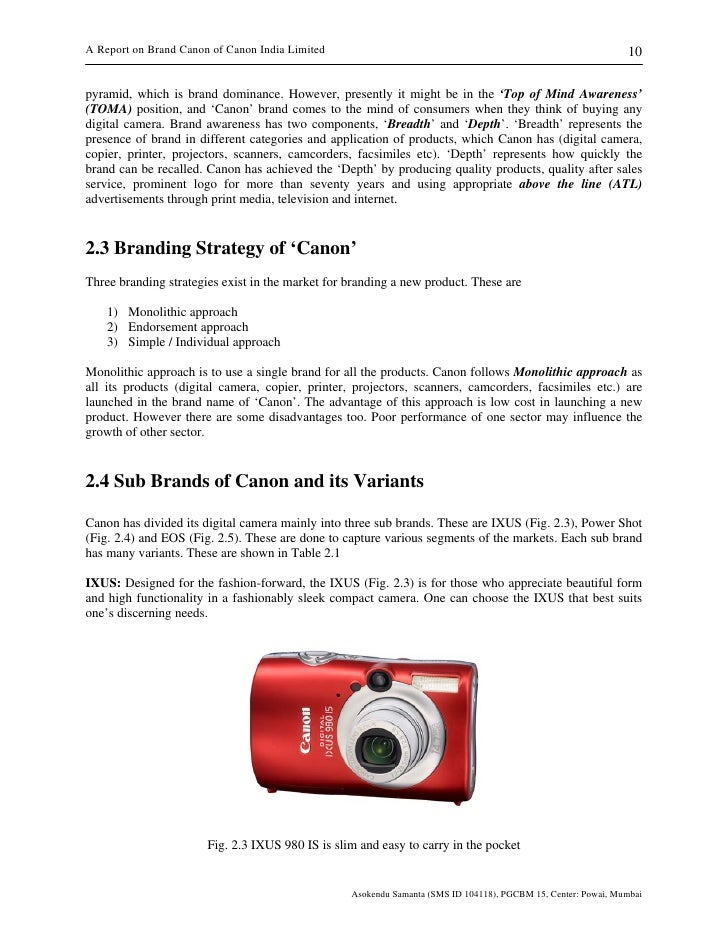 Brand Canon of Canon India Limited