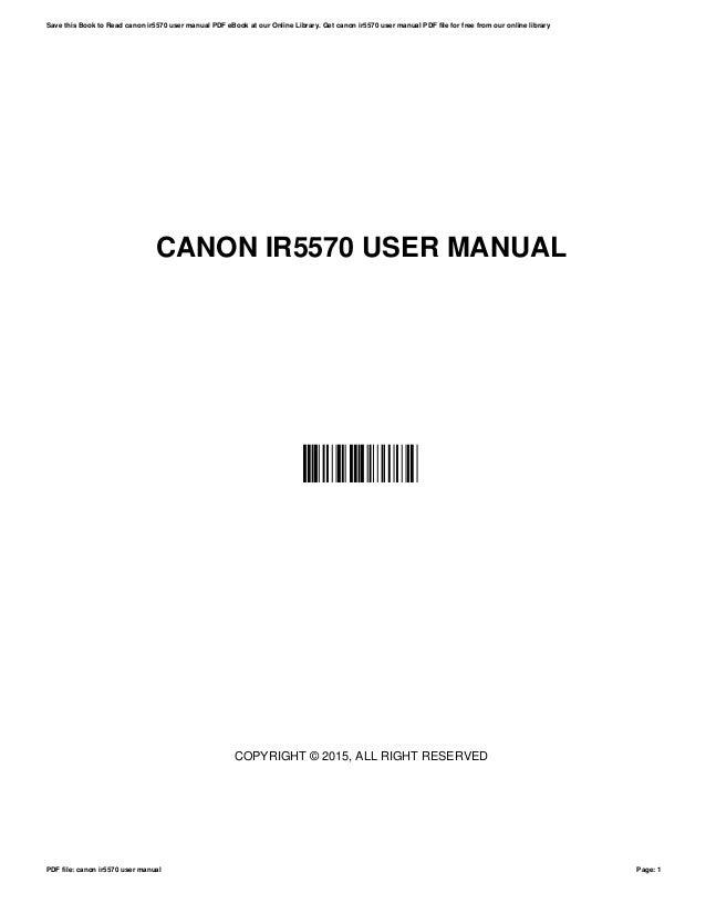 canon ir5570 user manual rh slideshare net
