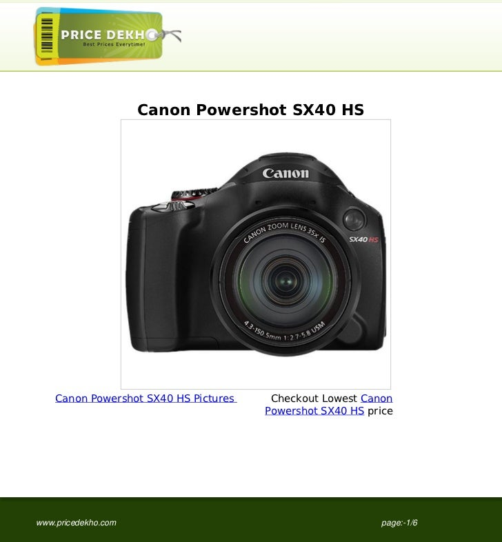 canon powershot sx40 hs specification