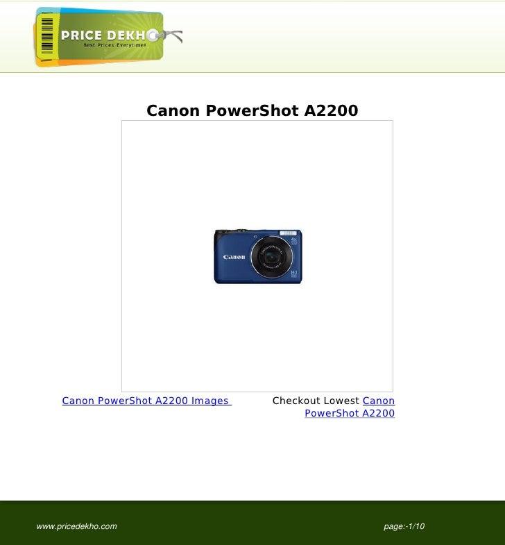 Canon PowerShot A2200     Canon PowerShot A2200 Images   Checkout Lowest Canon                                         Pow...