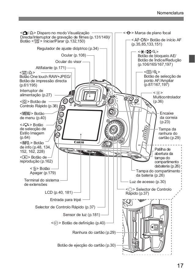 Manual Câmera Canon EOS 7D