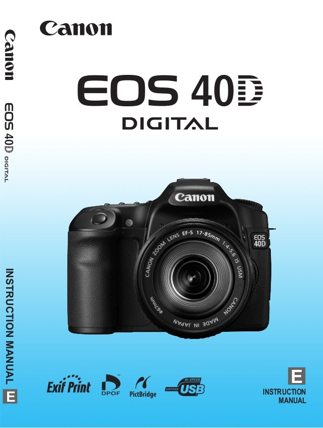 canon eos 40d manual rh slideshare net Canon in D Canon 80D