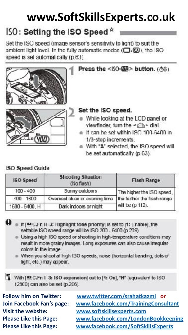 Canon Eos 7D Instructional Manual