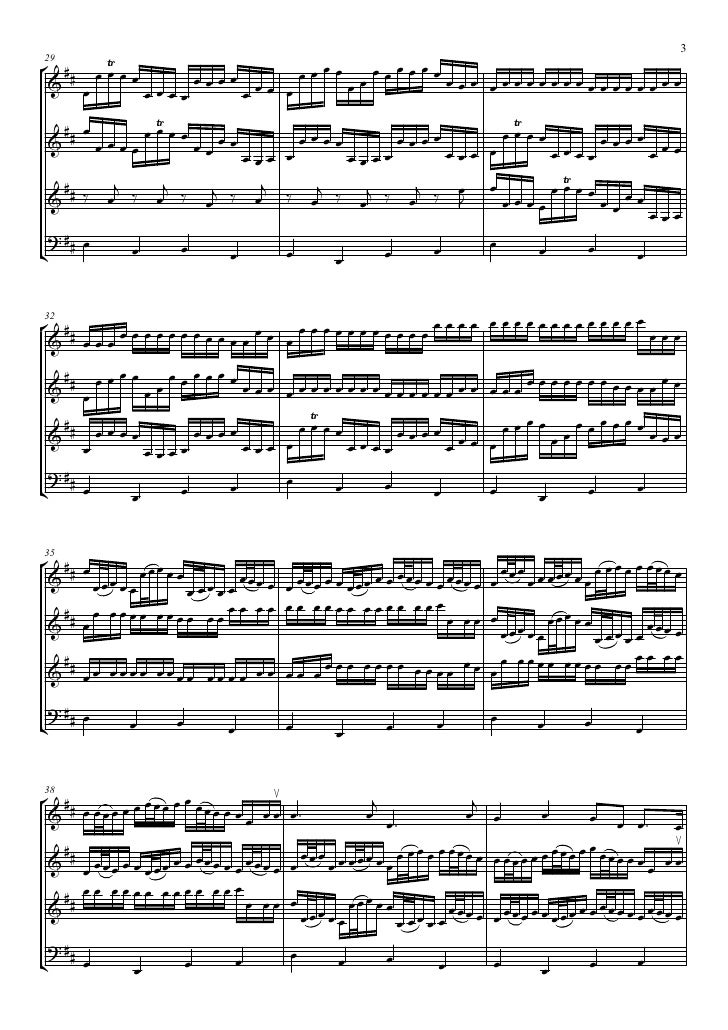 Canon in d (string quartet full score)all line violin