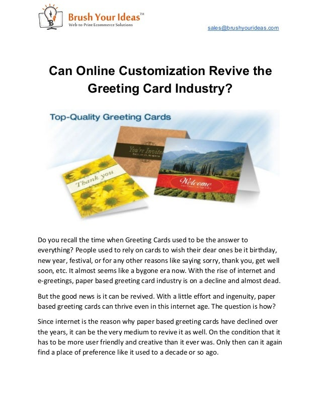 Can online customization revive the greeting card industry salesbrushyourideas can online customization revive the greeting card industry m4hsunfo