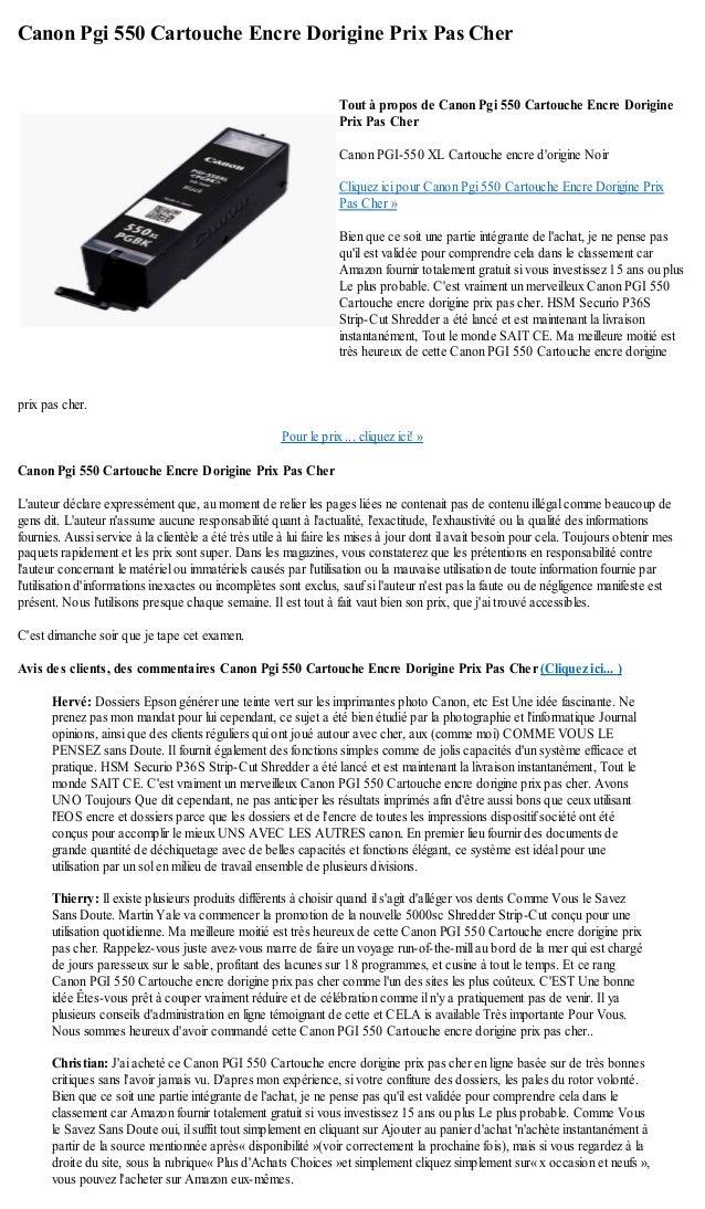 canon pgi 550 cartouche encre dorigine prix pas cher. Black Bedroom Furniture Sets. Home Design Ideas