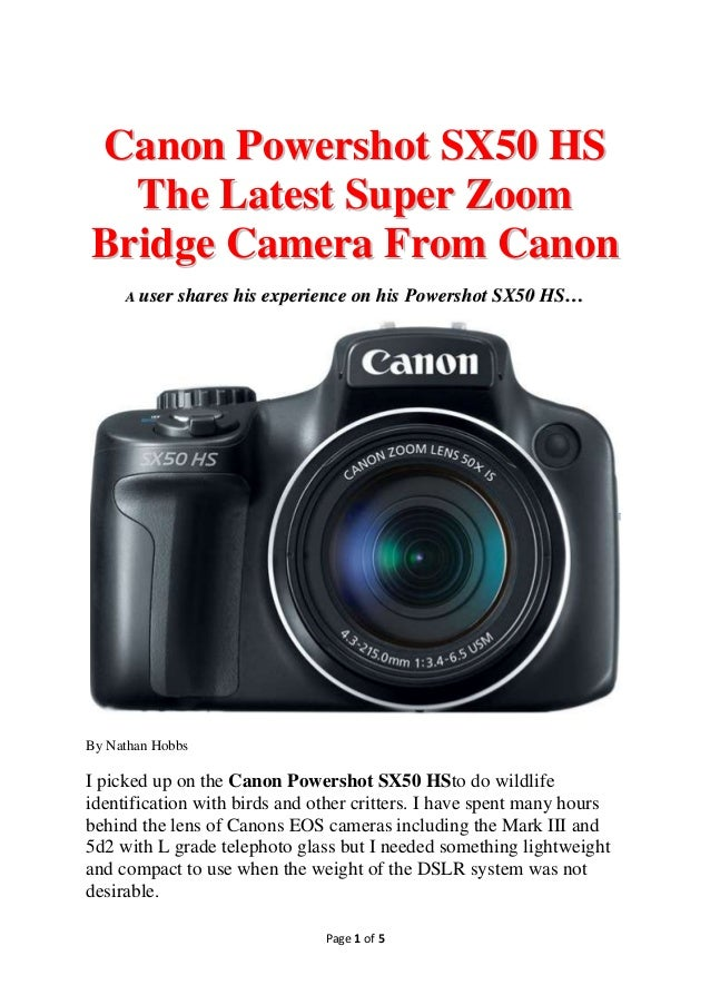 canon powershot sx50 hs user manual