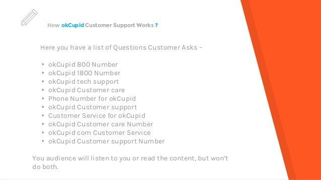 Okcupid customer support