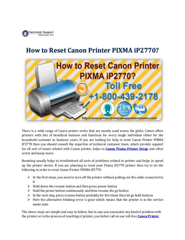 How To Reset Canon Printer