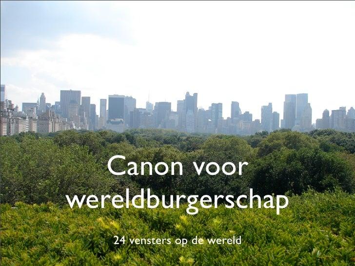 Canon voor wereldburgerschap    24 vensters op de wereld