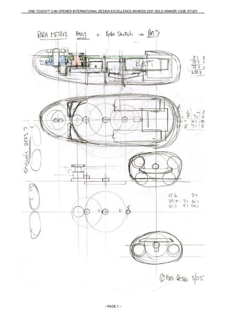 Can opener design