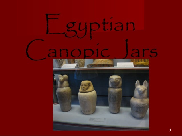 EgyptianCanopic Jars               1