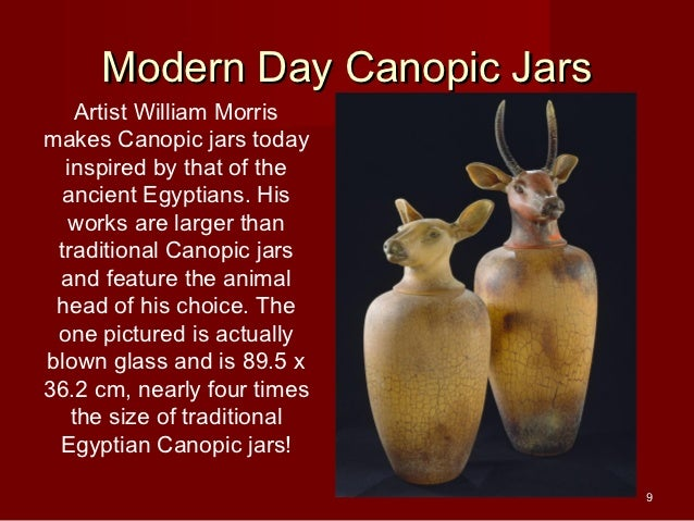 8; 9. Modern Day Canopic Jars ...  sc 1 st  SlideShare & Canopic jars