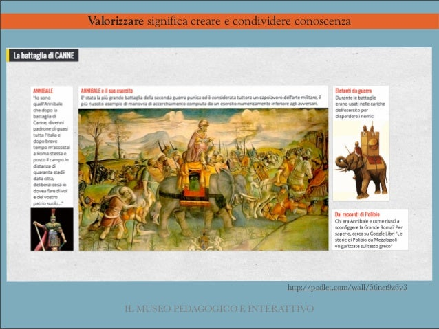 Valorizzare significa creare e condividere conoscenza http://padlet.com/wall/56net9z6v3 IL MUSEO PEDAGOGICO E INTERATTIVO ...