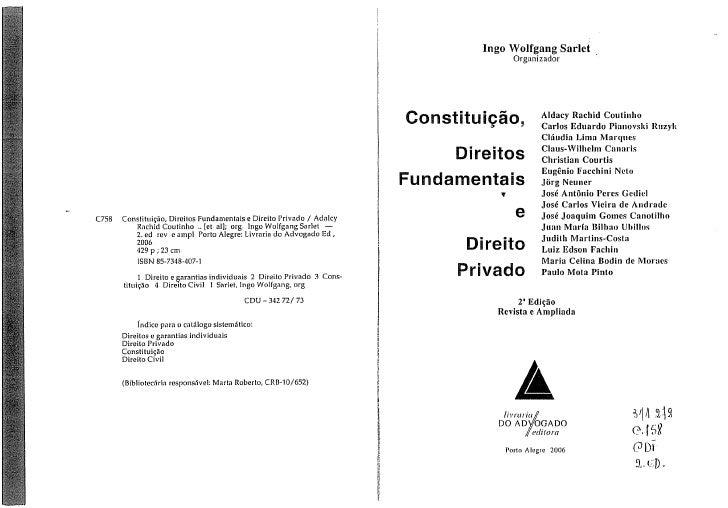 Canotilho, jj gomes. dogmática dos direitos fundamentais e relações privadas (1)