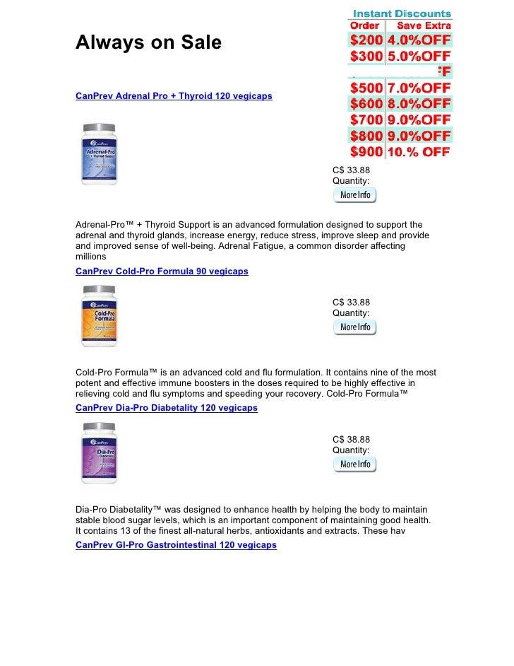 Always on Sale  CanPrev Adrenal Pro + Thyroid 120 vegicaps                                                                ...