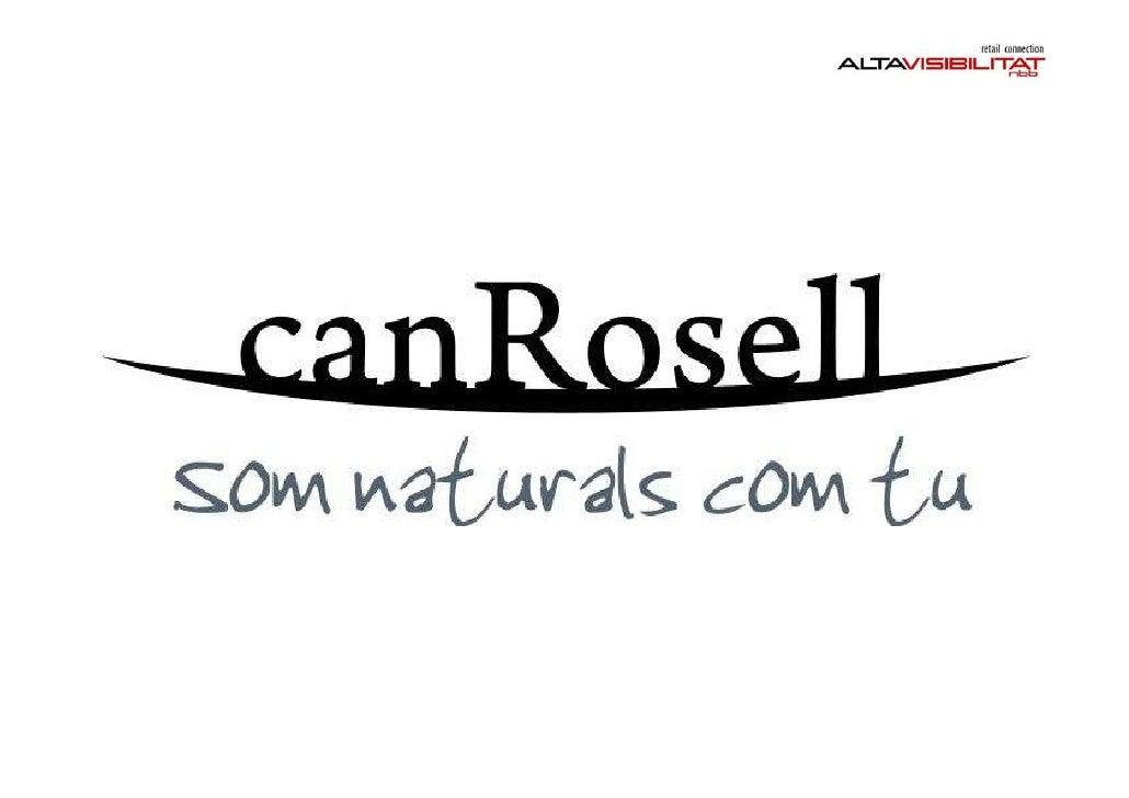 CLIENT: CAN ROSELL      Gerent Can Rosell: Jordi Rosell Concepte i Definició Formula Comercial:             Xavier Borràs ...