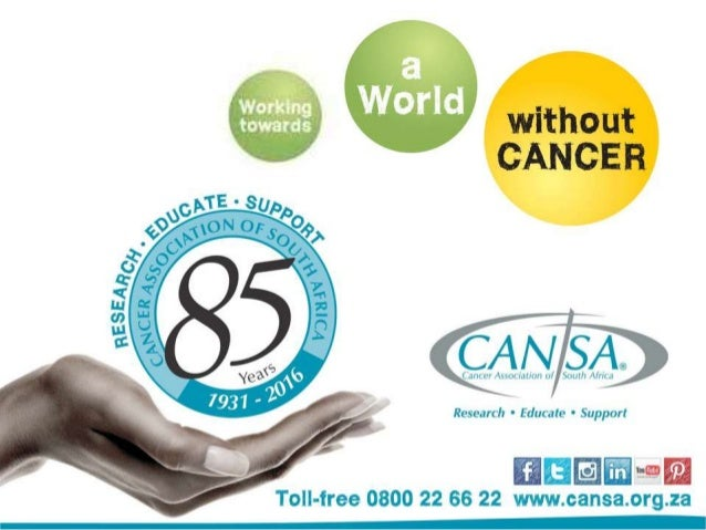 #CANSA85 We're so excited and proud - the Cancer Association of South Africa (CANSA) is celebrating its 85th anniversary o...