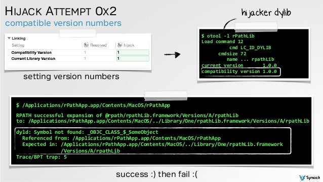 compatible version numbers HIJACK ATTEMPT 0X2 setting version numbers $  /Applications/rPathApp.app/Contents/MacOS/rPath...