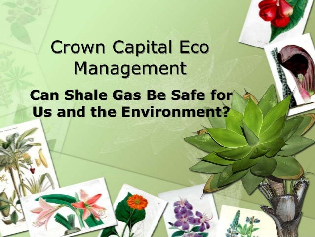 Crown Capital Eco Management Can Shale Gas Be Safe for Us and the Environment?