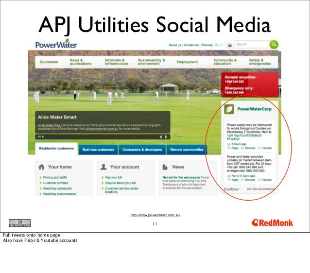 APJ Utilities Social Media                                      http://www.powerwater.com.au                              ...