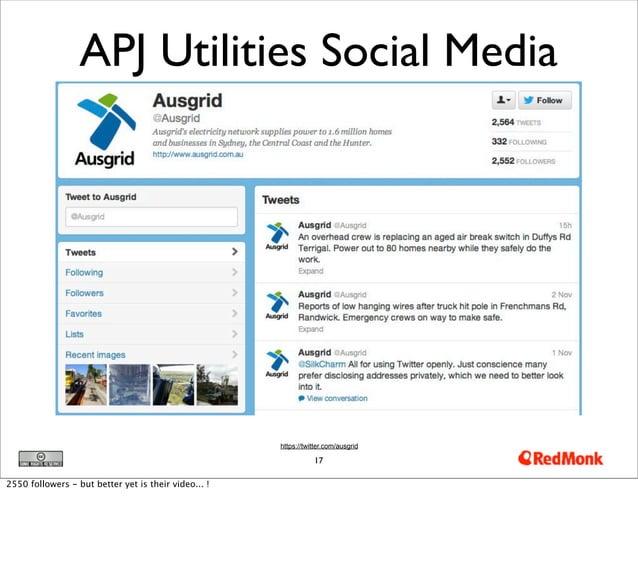 APJ Utilities Social Media                                                      https://twitter.com/ausgrid               ...
