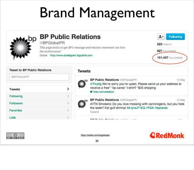 Brand Management     https://twitter.com/bpglobalpr                    30