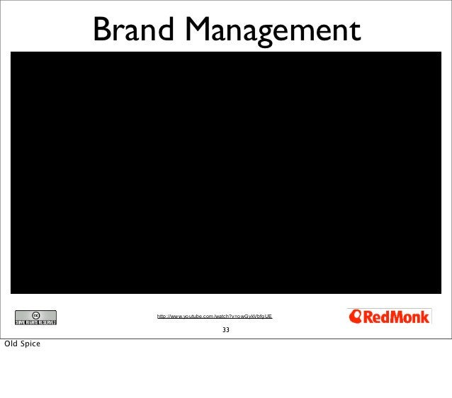 Brand Management               http://www.youtube.com/watch?v=owGykVbfgUE                                      33Old Spice