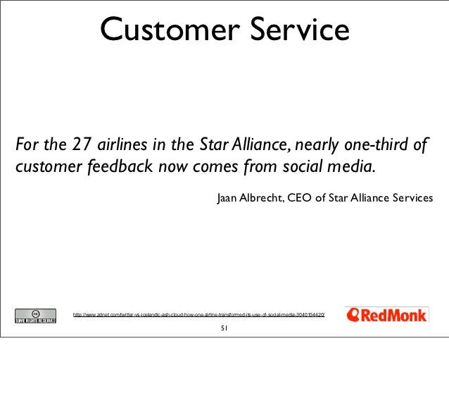 Customer ServiceFor the 27 airlines in the Star Alliance, nearly one-third ofcustomer feedback now comes from social media...