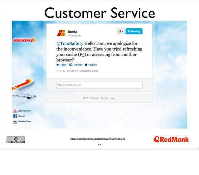 Customer Service   https://twitter.com/Iberia_en/status/262979795405647872                              52