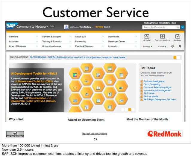 Customer Service                                                   http://scn.sap.com/welcome                             ...